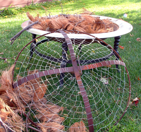 Not exactly lace - repair firepit screen