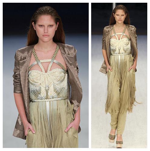 Cream Macrame Dress by Matthew Williamson 2