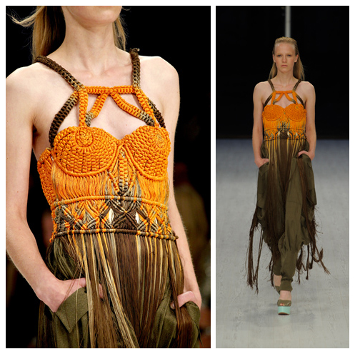 Orange Macrame Dress by Matthew Williamson 2001