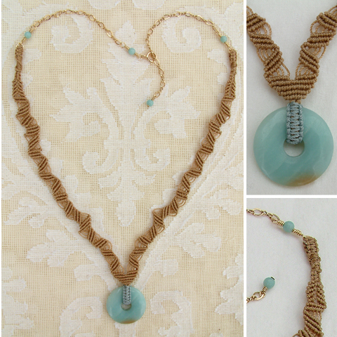 Micro-Macrame with Small Blue Donut