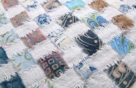 Woven quilt weaving