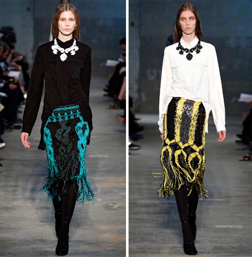 Proenza Schouler Macrame Skirts