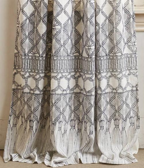 mara hoffman macrame curtains